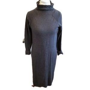 Talbots merino wool blend dress turtleneck midi